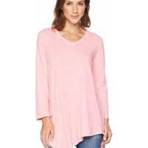 Fresh Produce Pink High Low Knit Tunic Dress